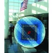 Sole Rosone n.8 - Mosaico di smalto vetroso- ⌀ 200 cm- 1998 - City Hall of Aventura, Florida, USA