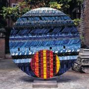 Sun n.3 - Side A - Vitreous enamel mosaic - ⌀ 49,2 in - 1999