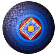 Sole Rosone n.29 - Legno a più spessori e mosaico di smalto vetroso - ⌀ 150 cm - 1997