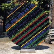 Sun n.3 - Side B - Vitreous enamel mosaic - ⌀ 49,2 in - 1999