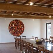 Sun - Rose Window n.14 -  Mosaic in vitreous enamel - ø  63 in - 2011 - Comunità di Bose