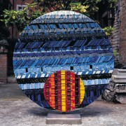 Sole n.3 - Lato A - Mosaico di smalto vetroso- ⌀ 125 cm - 1999