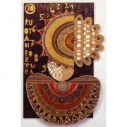 10) Ruota della Fortuna - Tavola a più spessori, tempere, cere, oro- h 96x62x8 cm- 1986/87