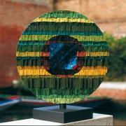Sole n.4 - Lato A - Mosaico di smalto vetroso -  ⌀ 55 cm -  1998