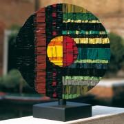 Sole n.6 - Lato B - Mosaico di smalto vetroso -  ⌀ 45 cm - 1998