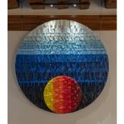 Sole Rosone n.27 - Mosaico di smalto vetroso - ⌀ 100 cm - Hotel Santa Chiara, Venezia 2015