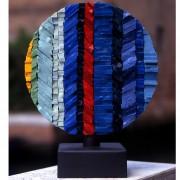 Sole n.1, Lato A-  Mosaico di smalto vetroso- ⌀ 30 cm- 1998