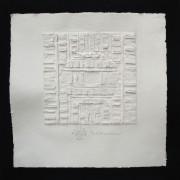Resinografia n.11 Il Sole Quadrato - Carta fatta a mano - 48x48 cm - 2011