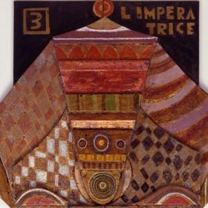 L'imperatrice, Dettaglio- Tavola a più spessori, tempere, cere, oro- 1987