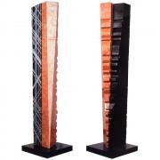 """""""Torre n.1"""" - Marmo rosso di Verona e nero Marquinia - h 135 cm - 2013"""