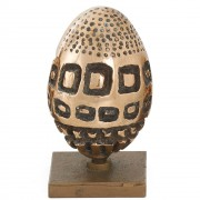 Egg - Bronze, lost wax casting - h 4,7 in - 1997