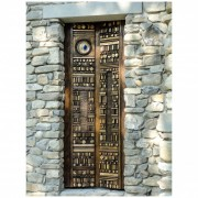 Door for mausoleum - Bronze, lost wax casting with Murano glass insertion - h 87x32 in - 2010 - Private Collection, Monte Pico (PV)