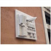 """""""St.Mark's Lion"""" - White Carrara Marble h 24×22×6 inch - Potenza Studio, Venice 2014"""