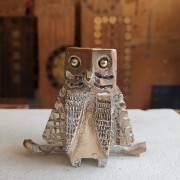 Owl n.31 - Bronze, lost wax casting - h 3,5 in - 2017