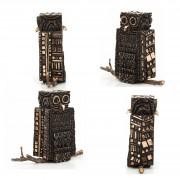 Janus Owl n.3 dark - Bronze, lost wax casting - h 9,5 in - 2013
