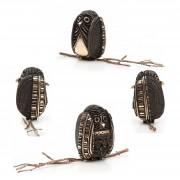 Janus Owl n.2 dark - Bronze, lost wax casting - h 5 in - 2013