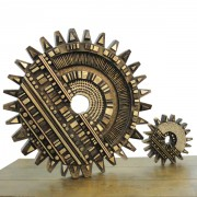 Gears - Bronze, lost wax casting - ø 24 in and ø 8 in - 2003