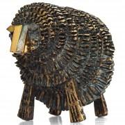 La pecora- Bronzo, fusione a cera persa- h 25x40x25 cm- 2008