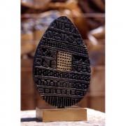 Half Egg (1) - Bronze, lost wax casting - h 13 x ø 8 in - 1997