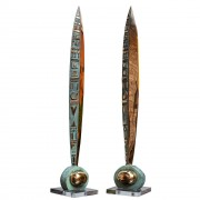 Feather n.4 - Bronze, lost wax casting - h 43,3 in - 2012