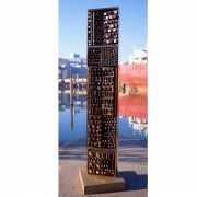 Stele n.1, Side A - Bronze, lost wax casting - h 53x10 in - 2002