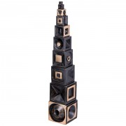 Babel Tower - Bronze, lost wax casting - h 21 in - 1997