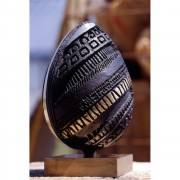 Egg (1) - Bronze, lost wax casting - h 13 x ø 8 in - 1997