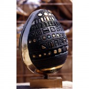 Egg (2) - Bronze, lost wax casting - h 16 x ø 12 in - 1997