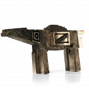 Horse n.5 - Bronze, lost wax casting - h 7x4x14 in - 2008