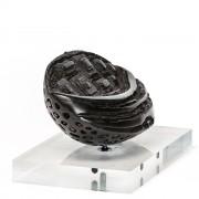 """Black Coffee Bean n.3"" - Bronze, lost wax casting - 9x6 in - 2014"