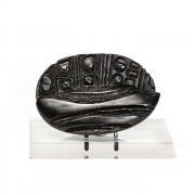 """Black coffee bean n.4"" - Bronze, lost wax casting - 9x6 in - 2014"
