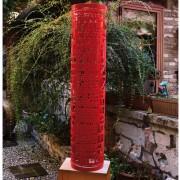 Buco Rosso- Acciaio dipinto a polvere- h 125 x ⌀ 27 cm- 2015