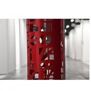 Buco Rosso, Dettaglio - Acciaio dipinto a polvere - h 125 x ⌀ 27 cm - 2015