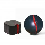 Spatial Concept n.4, n.5- Wood, acrylics-  h 2,93 in, ⌀ 6,1 in - 2014