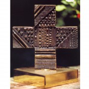 Cross n.1, B-Side- Bronze, casting by cire perdue- 8,27x8,27 inch- 2000