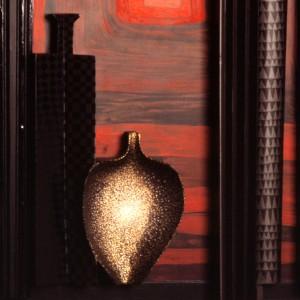Omaggio a Morandi n.67, Dettaglio- Legno a più spessori, tempere, acrilici, colori a cera- 1992