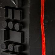 Concetto spaziale n.3, Dettaglio - Legno a più spessori, acrilici - h 36 cm - 2014