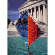 Fountain - Vitreous enamel mosaic - h 157,5 in - 1999