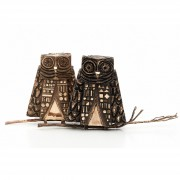 Janus Owls n.8 - Bronze, lost wax casting - h 10 in - 2013