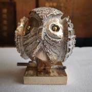 Owl n.28 - Bronze, lost wax casting - h 4,2 in - 2017