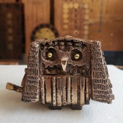 Owl n.29 - Bronze, lost wax casting - h 3 in - 2017