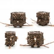Janus Owl n.1 - Bronze, lost wax casting - h 5 in - 2013