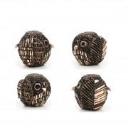 Janus Owl n.10 - Bronze, lost wax casting - h 3,5 in - 2013