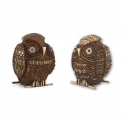 Janus Owl n.12 - Bronze, lost wax casting - h 15 in - 2013