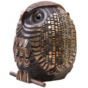 Owl n.21 - bronze, lost wax casting - h 52 in - 2013