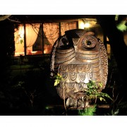 Janus Owl - Bronze, lost wax casting - h 52 in - 2012 - Private collection, Monte Pico (PV)
