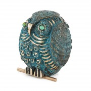Owl n.20 - Bronze, lost wax casting - h 8 in - 2013