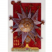 5) The stars- Table in several thicknesses, temperas, waxes- h 39,01x27,97x4,73 in - 1987