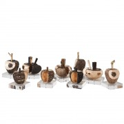 Apples, Pomegranates, Pumpkins - Bronze, lost wax casting - h 6 in - 2013