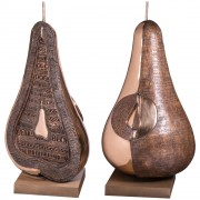 """Half Pear"" - Bronze, lost wax casting - h 39,4 in - 2006"